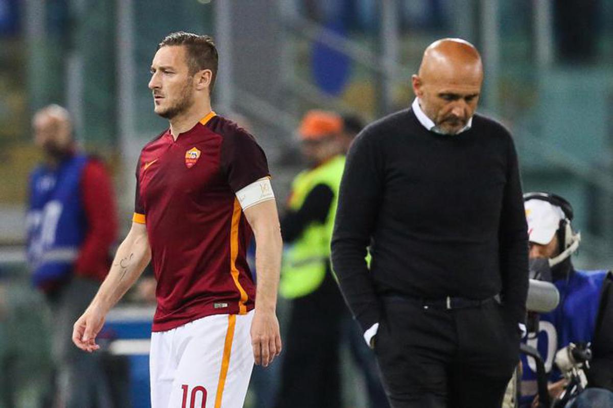 Spalletti lascia la Roma e parla di Totti