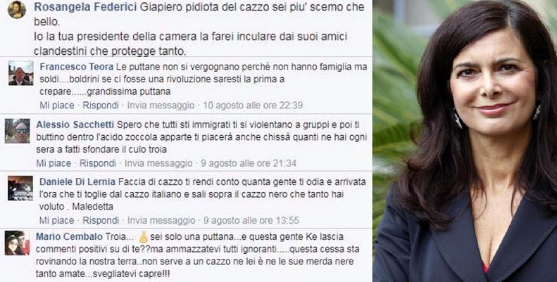 Laura Boldrini, la misura è colma: denunce per chi la offende sui social