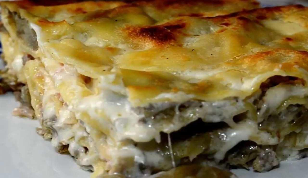 Lasagna con crema di carciofi: un primo ricco di gusto! La ricetta