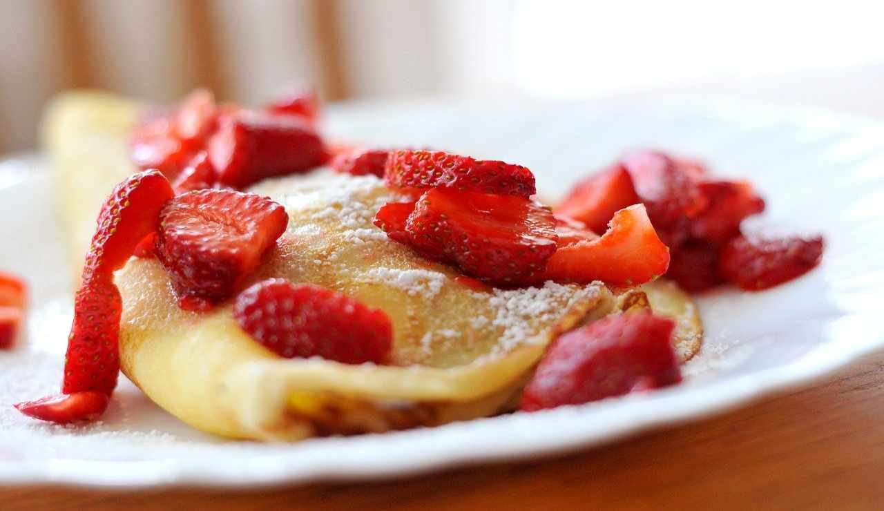 Crepes fragole ricetta