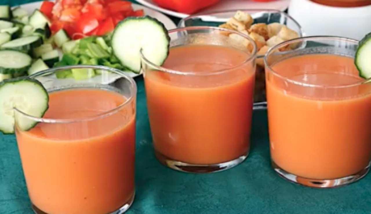 Gazpacho ricetta zuppa di pomodoro