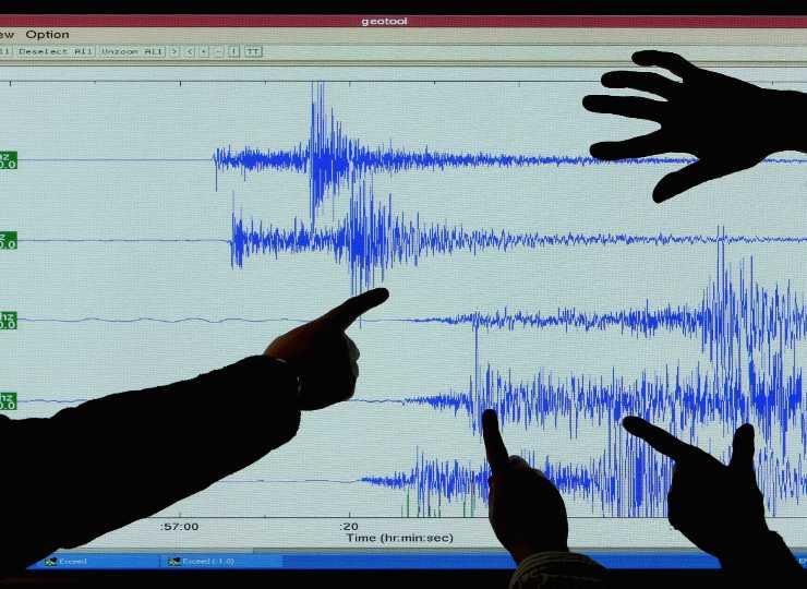 Grafico terremoto