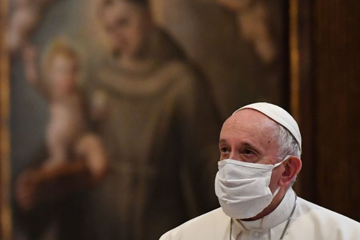 papa francesco lutto