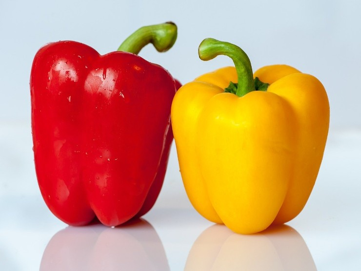 peperoni giallo e rosso