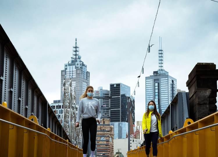 Melbourne, lockdown