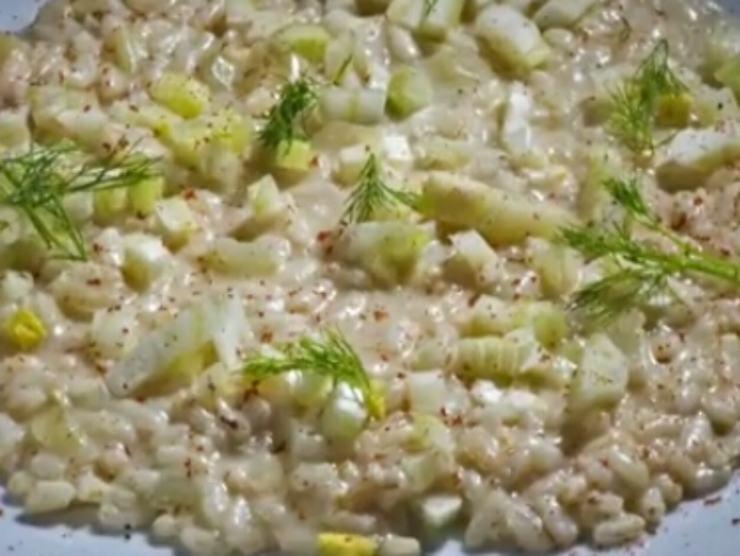 risotto finocchi ricetta cremosa