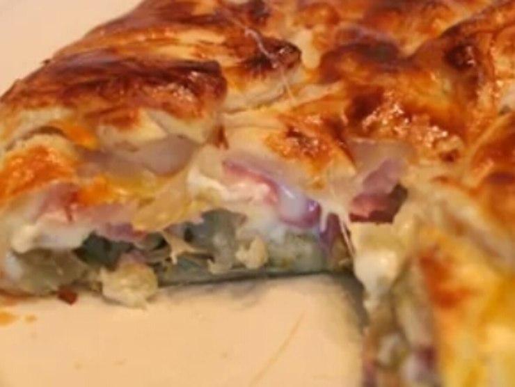 torta salata carciofi ricotta