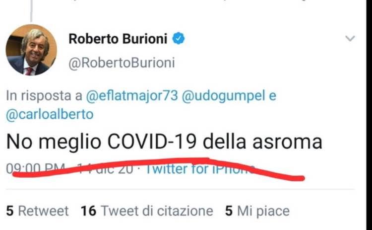 Burioni roma covid