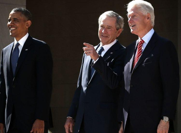 Barack Obama, Bill Clinton e George W. Bush