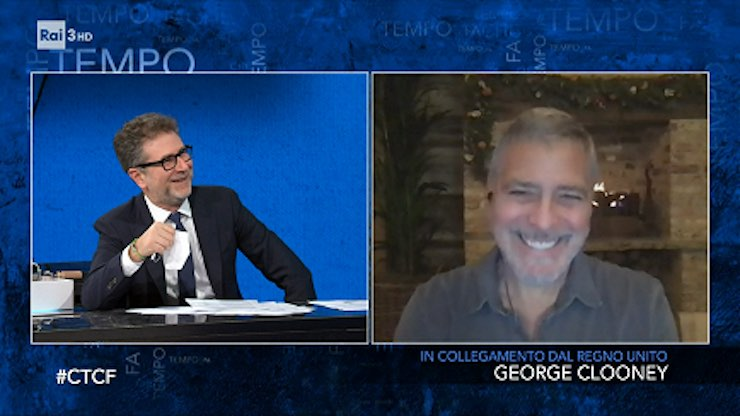 Che tempo che Fa, Fabio Fazio e George Clooney