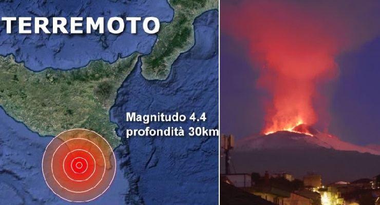 Eruzione Etna e terremoto