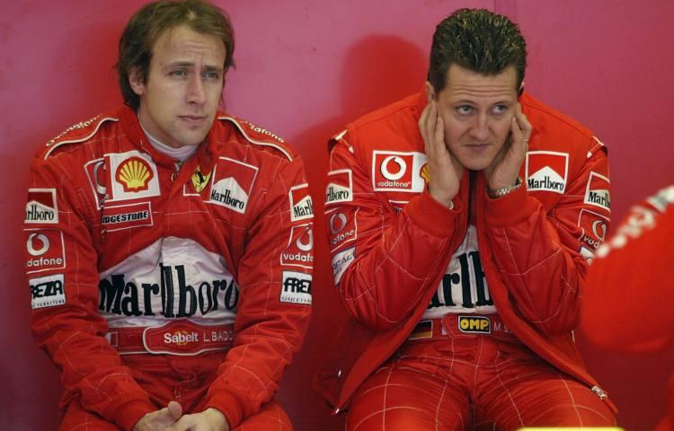 Luca Badoer e Michael Schumacher