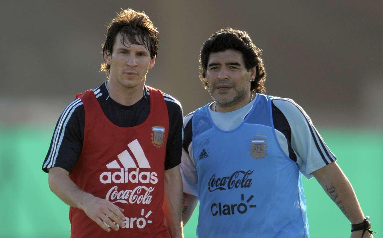 Maradona con Messi