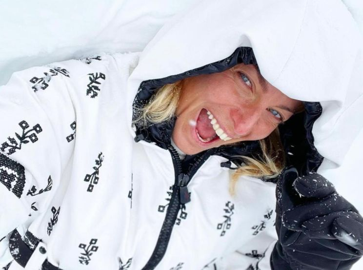 Federica Fontana sulla neve