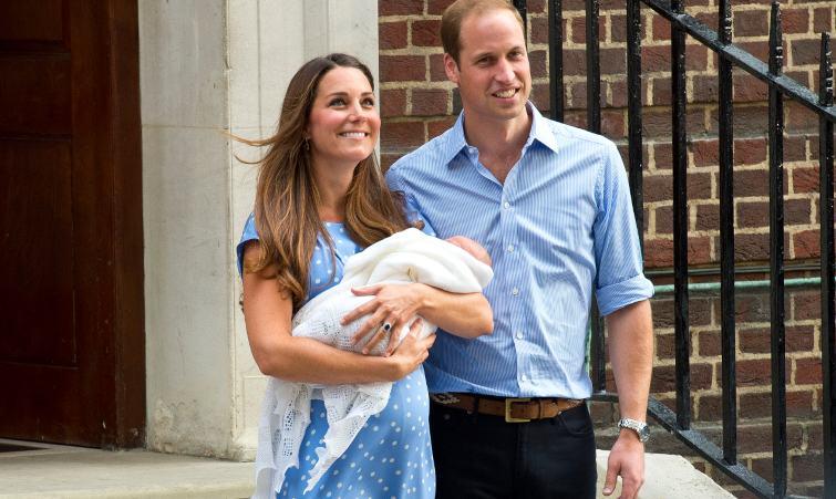 Kate Middleton dopo il parto insieme al principe William