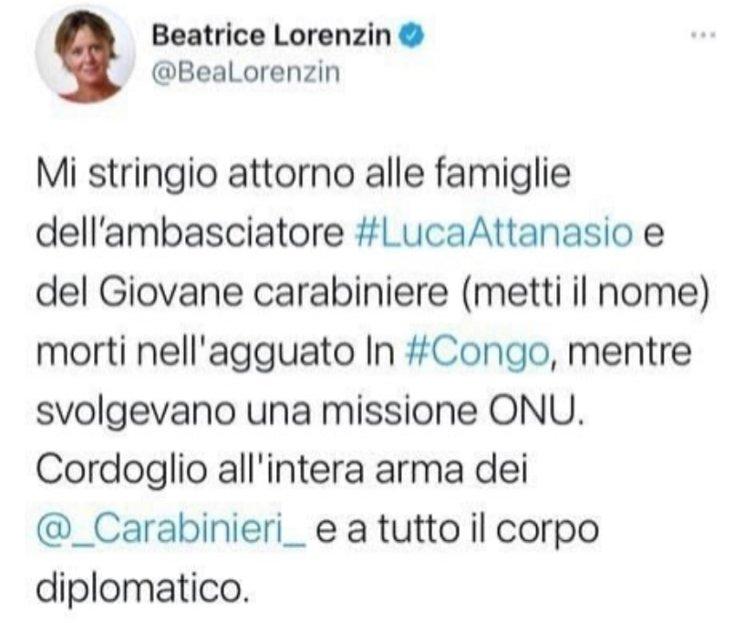 Gaffe di Beatrice Lorenzin