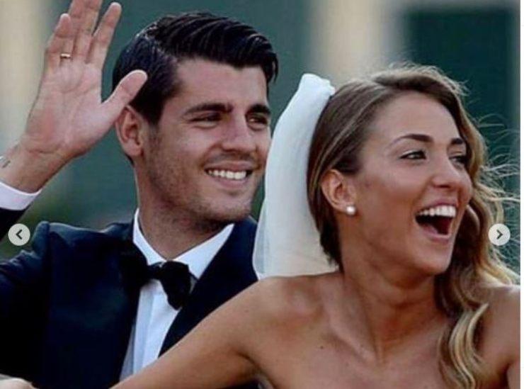 Alice e Alfonso Morata sposi