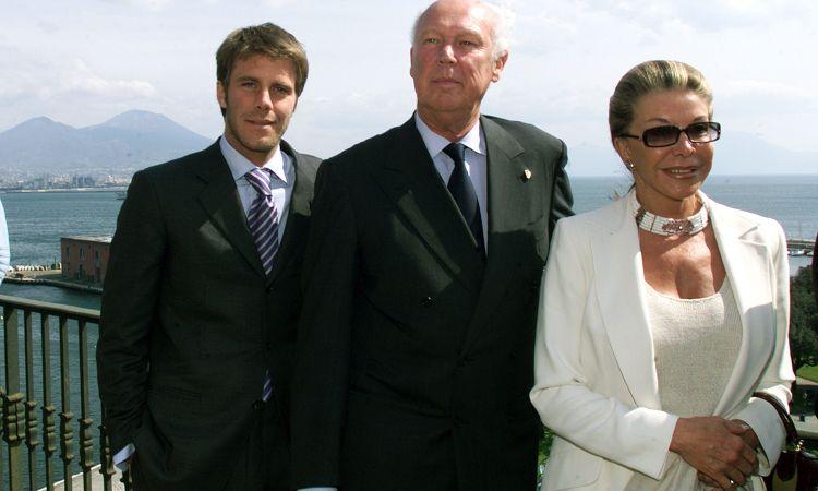 Emanuele Filiberto di Savoia con suo padre Vittorio Emanuele e sua madre Marina Doria