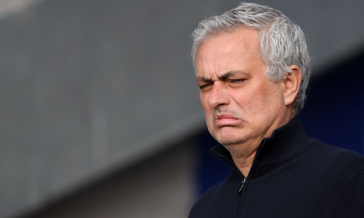 José Mourinho in primo piano