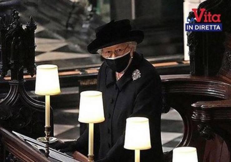 Regina Elisabetti ai funerali di Filippo