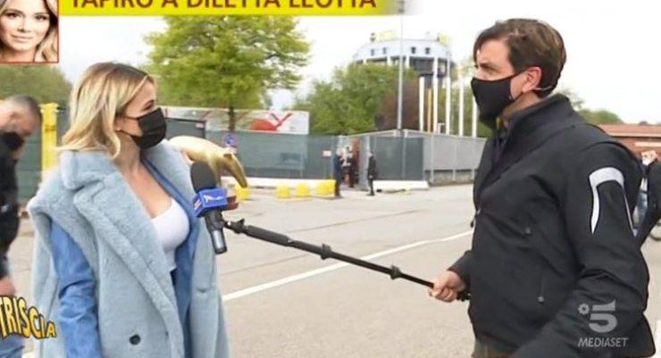 La Leotta fermata da Valerio Staffelli