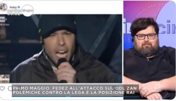 Caso Fedez Adinolfi Mattino 5