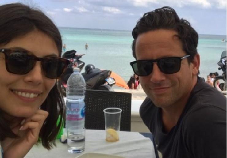 Alessandra e Ross al mare