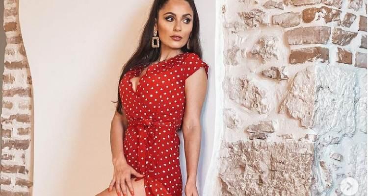 Alessia Macari vestito rosso