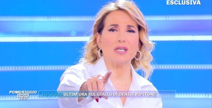 Barbara D'Urso lancia l'ultimo ora su Denise