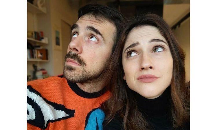 Comello e marito