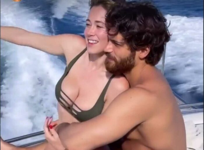 Diletta Leotta e Can Yaman in barca