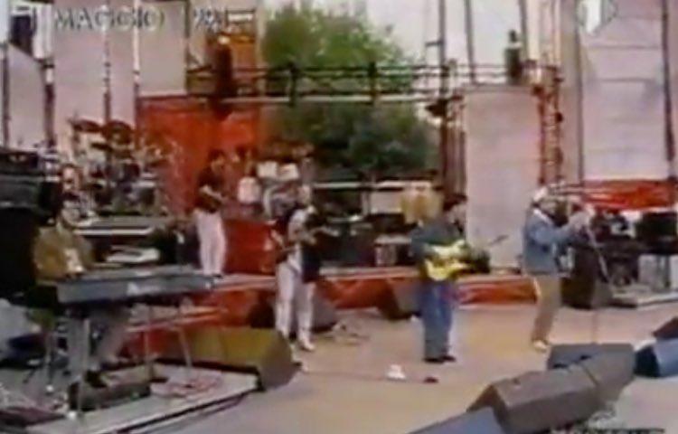 Elio e le storie tese al concerto del Primo Maggio 1991