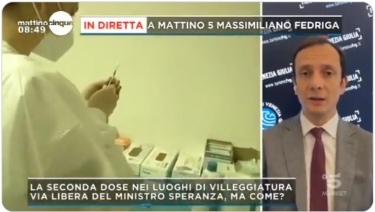 Fedriga Mattino 5