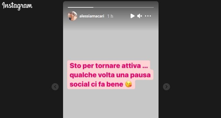 Alessia Macari messaggio