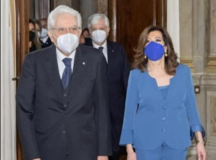 La Casellati insieme al Presidente Mattarella