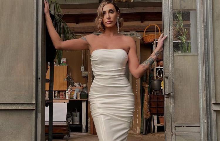 Sonia Lorenzini in abito da sera