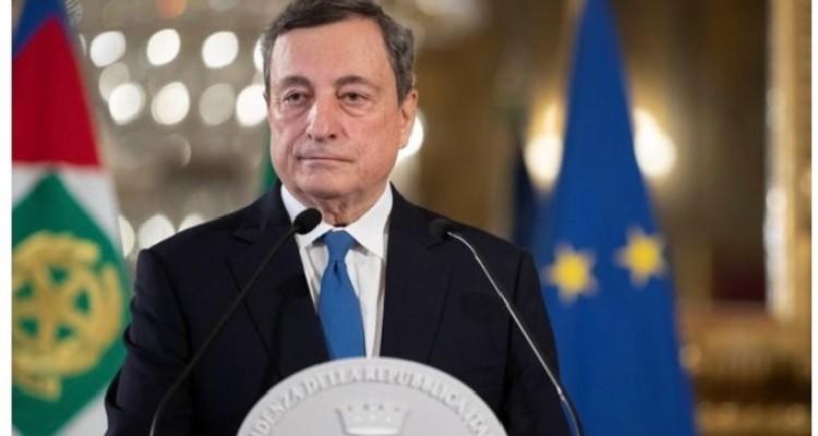 Mario Draghi serio