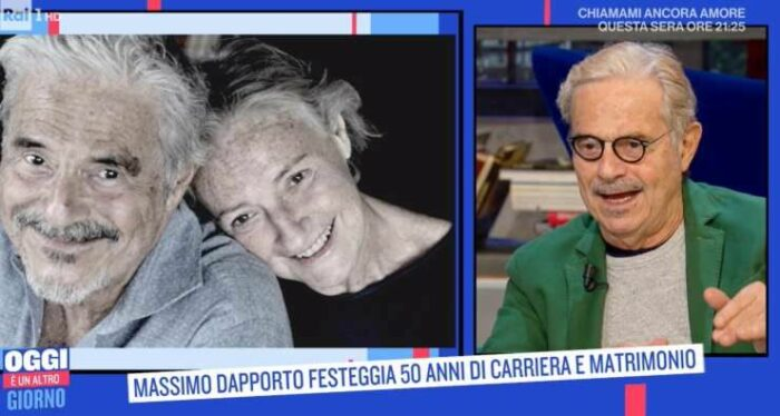 Massimo Dapporto e la moglie