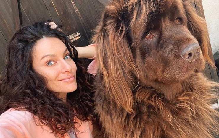 Paola Turani e il cane Nadine