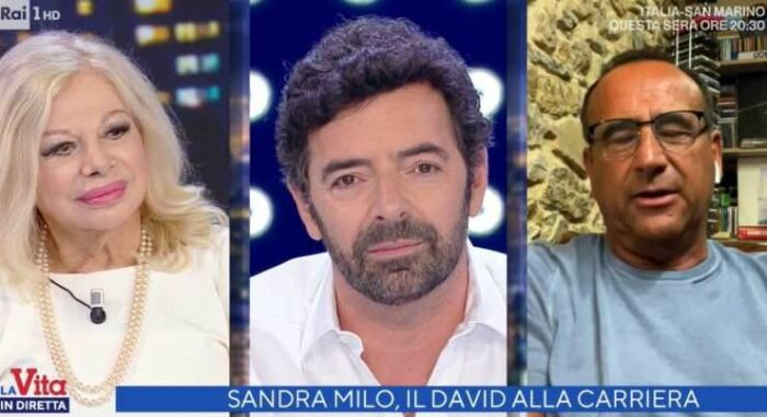 Sandra Milo Alberto Matano e Carlo Conti