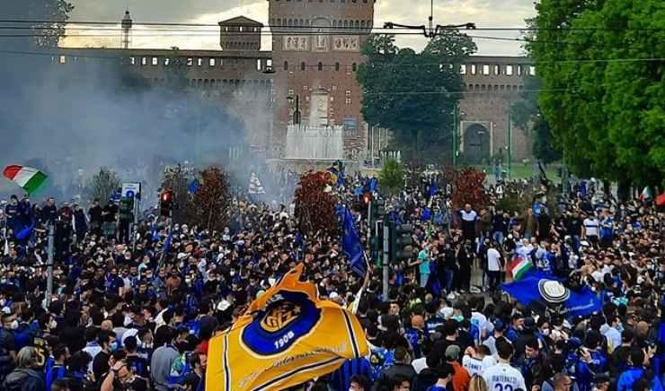 Tifosi Inter in piazza