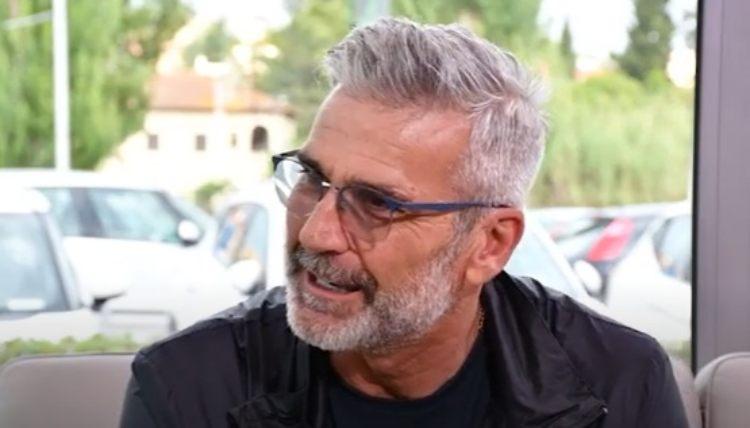Ubaldo Righetti durante un'intervista