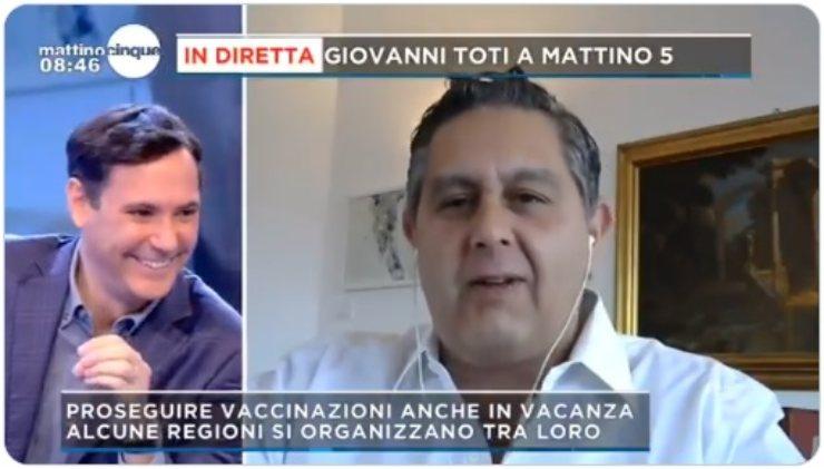 Francesco Vecchi e Giovanni Toti Mattino 5
