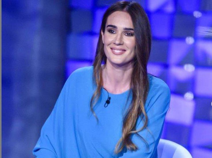 Silvia Toffanin nello studio di Canale 5