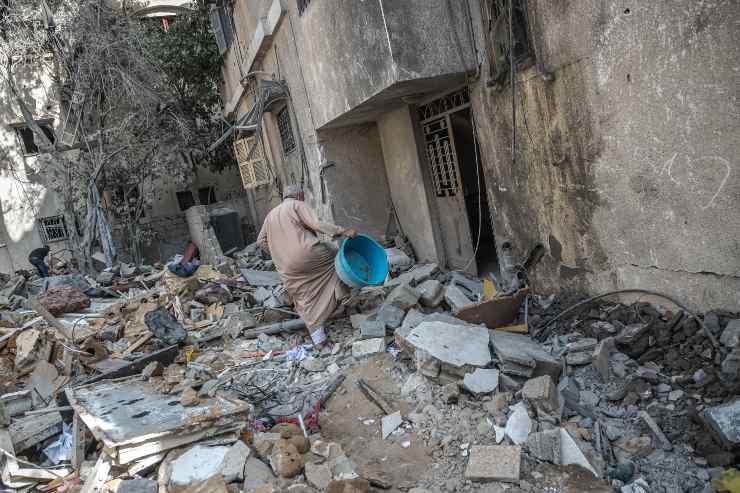 edifici distrutti guerra Israele Hamas
