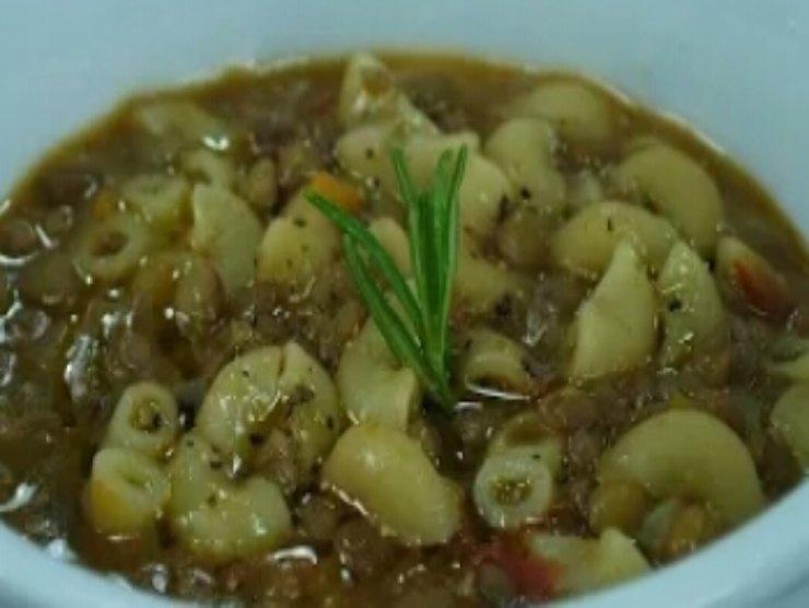 pasta lenticchie e menta