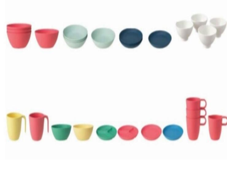 tazze bicchieri ciotola ikea