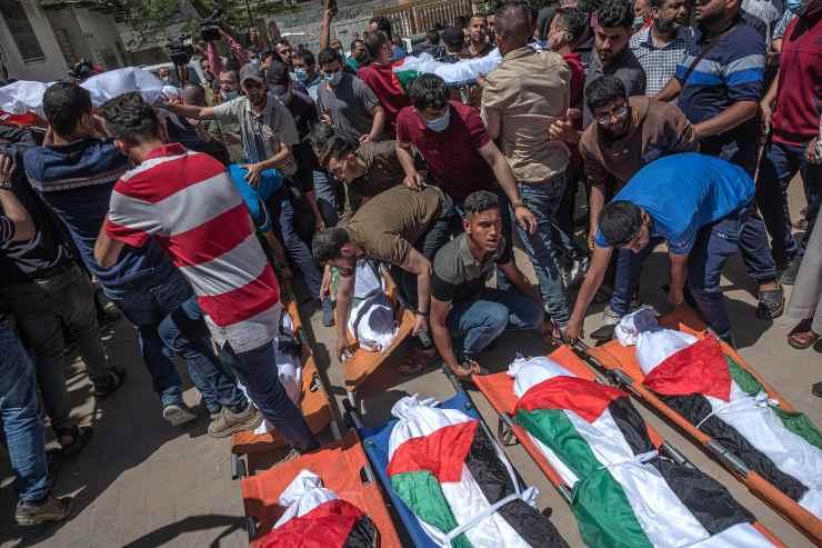 vittime palestinesi guerra Israele Hamas
