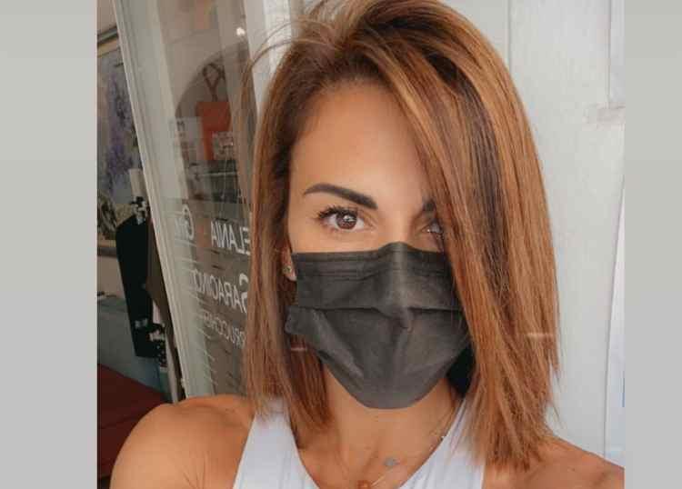 Bianca Guaccero con la mascherina