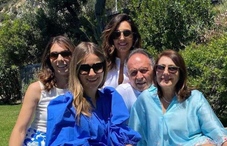 Caterina Balivo e la famiglia